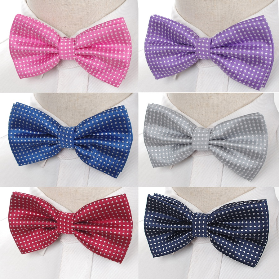 New Bowtie Fashion Mens Business Wedding Party Bow Tie Butterfly Dot Male Dress Necktie Accessories Shirt Gift Ties For Men