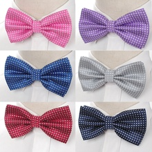 все цены на New Bowtie Fashion Mens Business Wedding Party Bow Tie Butterfly Dot Male Dress Necktie Accessories Shirt Gift Ties for Men