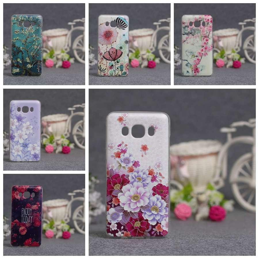 Luxury 3D Relief Printing Soft TPU Protector Case For Samsung Galaxy J5 2016 J510 J510F SM-J510F Silicon Cover for Samsung J5