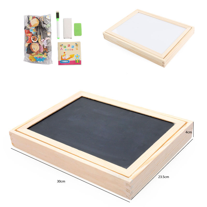 Купить с кэшбэком Multifunctional Educational Toys For Children Wooden Magnetic Puzzle Kids Jigsaw Baby Drawing Writing Board Kids Gift CL1444H