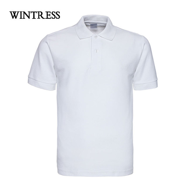 d1fdfd8b251 WINTRESS Brand New Camisa Polo Shirt Pure Color Short Sleeve Casual Top  Oversize Fitness Jerseys Custom Embroidery