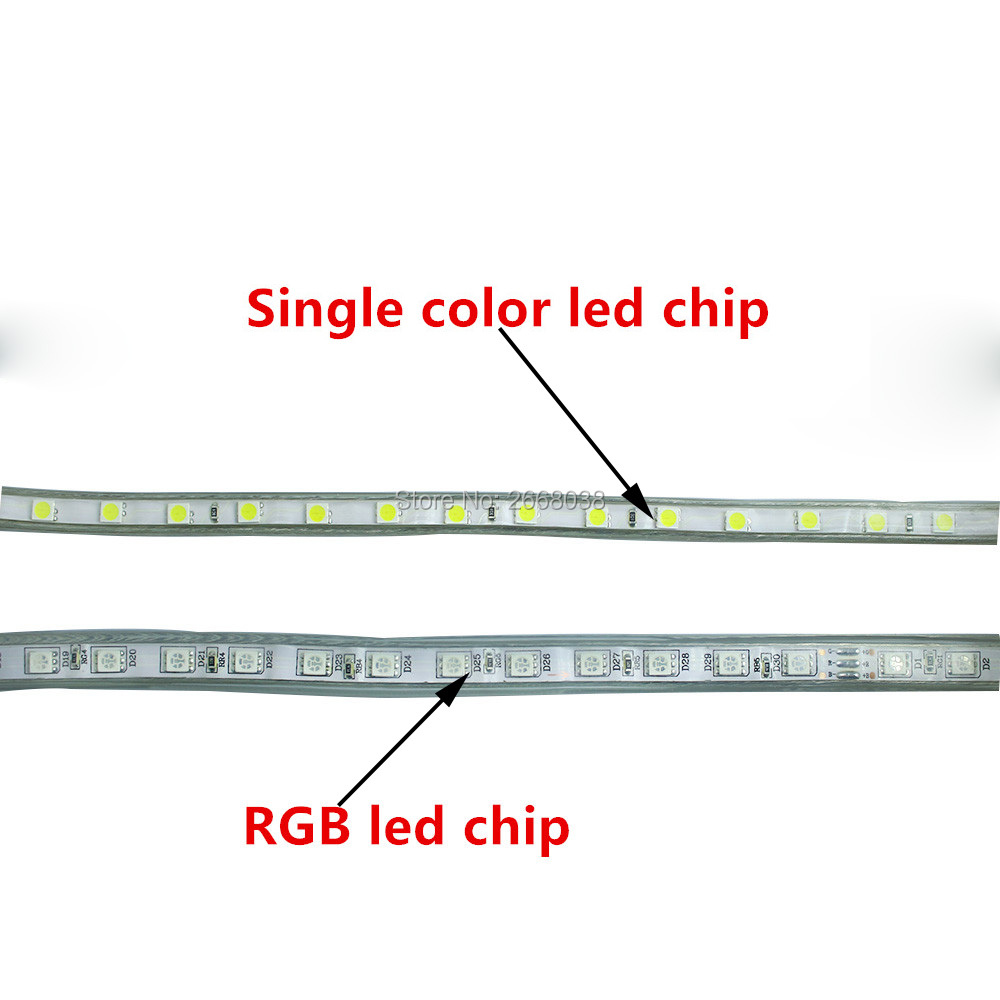 Wftcl 5m 110v Smd 5050 Led Strip Light Power Plug Warm White60leds Rgb Lighting Wiring Schematic Ac 220v Flexible
