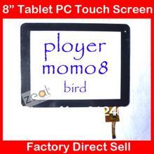 Pantalla Táctil de 8 pulgadas para Ployer Momo8 Bird Tablet pc de Reemplazo del Panel Táctil de Cristal Digitalizador 300-N3708A-B00