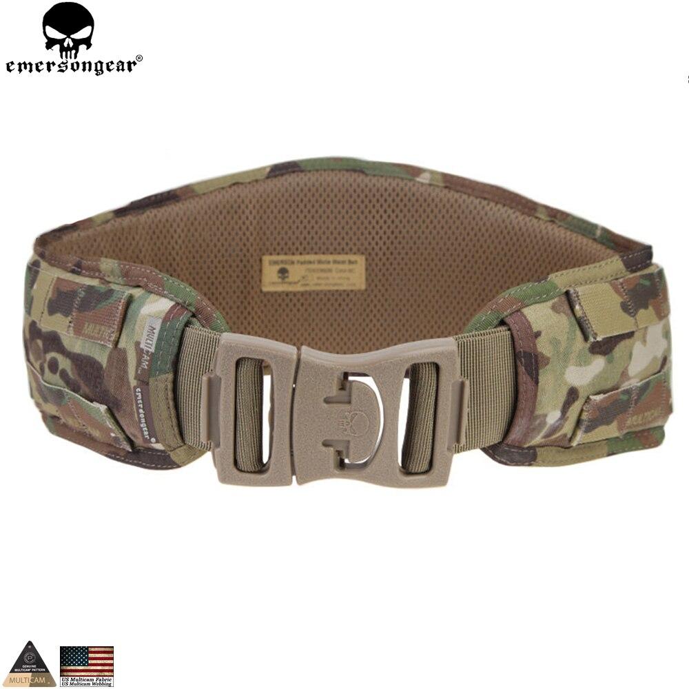 EMERSONGEAR Molle Multicam Belt Waist Padded Belt Emerson Airsoft Combat Hunting Tactical Waistband Hunting Molle Belt EM9086