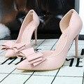 Senhoras Sapatos De Salto Alto Coreano Mulher Doce das Senhoras Rosa Da Borboleta Da Forma do Salto Fino sapatos de Salto Alto Zapatos Mujer Mulheres Bombas Sapatos Saltos