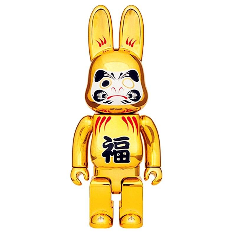 OriginalFake 400% Be@rBrick Damour Rabbit SERIES Gloomy Bear Brian Baseman Toby Medicom Toy Action Figure Toy Street Art L2125