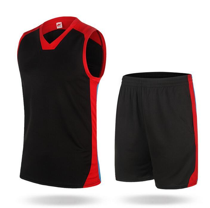 2017 חדש הגעתו פוליאסטר גברים כדורסל גופיות בחר לנשום אימון גופיות גופיות חליפה בתוספת גודל ספורט חליפה