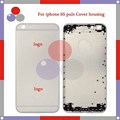 30Pcs/Lot DHL high quality For IPhone 6S Back Cover Housing Battery Cover Door Back Cover White Black Gold Rose Gold