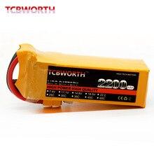 Tcbworth Липо 22.2 В 2200 мАч 40C Max 80C rc lipo батарея для Вертолет Самолет quadrotor Drone автомобиля RC литий-ионный тесто