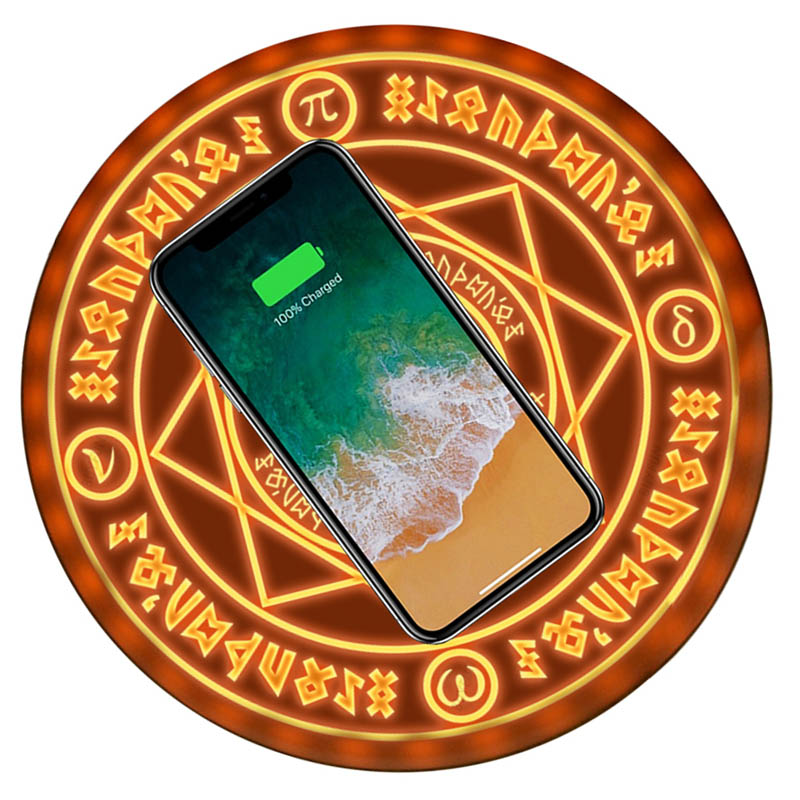 Comic Magic Array Wireless Charger Circle Qi Wireless Universal Fast Charger for iPhone X 8 Quick Charging Pad Replenisher 2019 Comic Magic Array Wireless Charger Circle Qi Wireless Universal Fast Charger for iPhone X 8 Quick Charging Pad Replenisher 2019