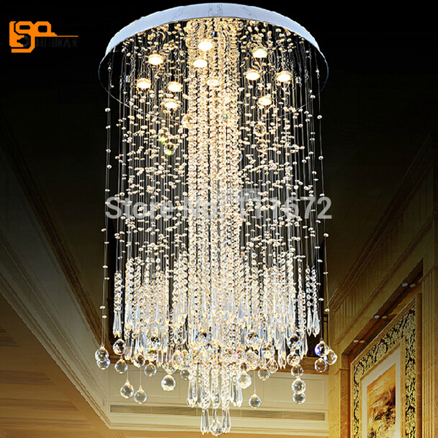 New Design Modern Chandelier Crystal Lamp For Living Room Remote Control Free Shipping