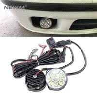Super Bright 4 LED Car Light White DRL LED Daytime Running Light LED Fog Light Head