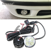 Super Bright 4 LED Car Light White DRL LED Daytime Running Light LED Fog Light Head