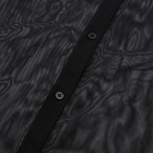 Image 5 - iiniim Mens Fashion See Through Mesh Long Sleeve Clubwear Turn down Collar Top Shirt for Club Evening Party WetLook Shirts