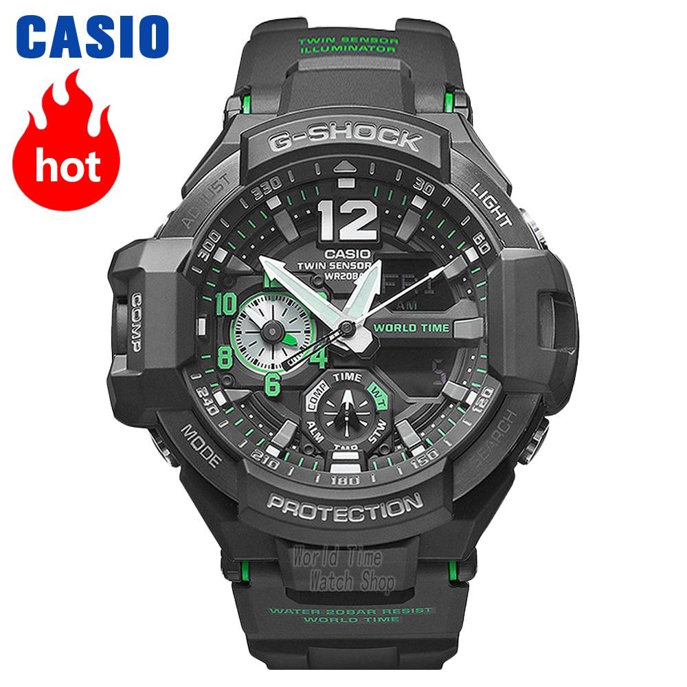 Reloj Casio G-SHOCK Reloj deportivo de cuarzo para hombre, aviación, impermeable al aire libre, reloj de choque GA-1100