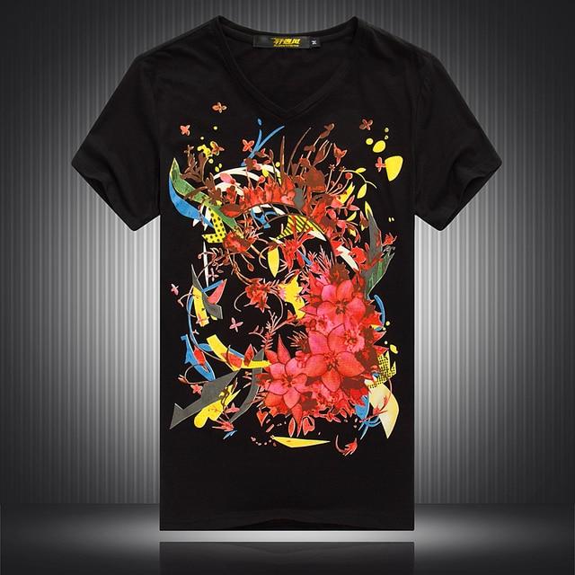 パーソナライズされた花柄印刷ファッション半袖 tシャツ夏 2019New 最高品質のコットンストリート tシャツ M-4XL