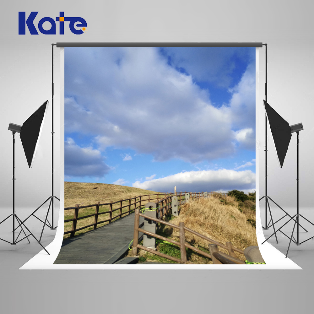Kate 5x7ft Scenic Photography Backdrop Valla Blue 3D Sky Photo Background Photography Backdrop Children Microfiebr Background kate natural scenery backdrop blue sky
