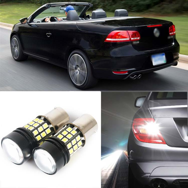 2pcs High Quality Superb Error Free 5050 SMD 360 Degrees LED Backup Reverse light Bulbs 1156 For VW EOS 2 x error free super bright white led bulbs for backup reverse light 921 912 t15 w16w for peugeot 408