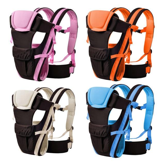 Baby Wrap Newborn Infant Carrier Breathable Adjustable Polyester Cotton Wrap Sling Back Blue, Pink, Orange, Khaki 0 to 24 Months