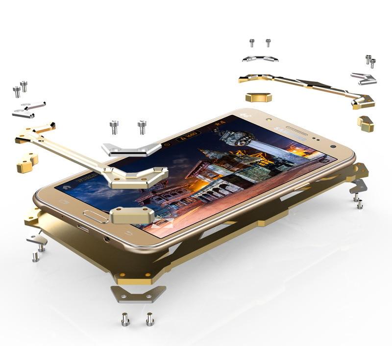imágenes para Para Samsung J5 2016 Zimon Metal de Aluminio Cubierta de la Caja para Samsung Galaxy J7 2016 de Protección para Smartphone