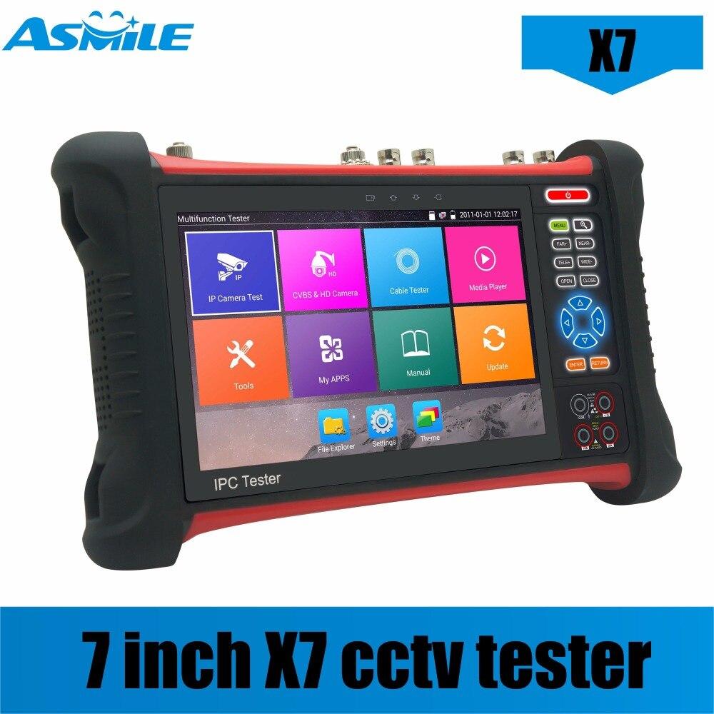 7 Inch Retina Touch Screen Cctv Tester Resolution H.265 Mainstream Test 4K Video Display Via Mainstream HDMI Signal Input