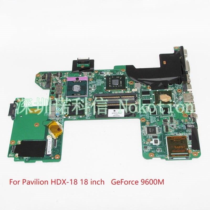NOKOTION DAUT7GMB8B0 519592-001 For HP Pavilion HDX-18 HDX18 laptop motherboard 18 inch PM45 DDR3 Nvidia GeForce 9600M free cpu