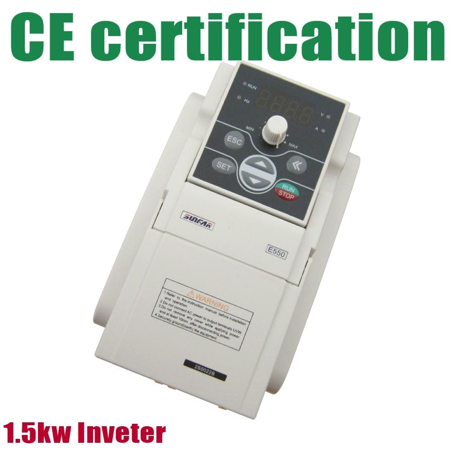 Nova marca SUNFAR Inversor de Freqüência VFD Inversor 1.5Kw AC220V 1000 hz E550-2S0015B