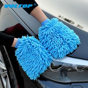 Image 3 - 2 шт., перчатки для чистки автомобилей, автомойка, полотенце из микрофибры, моющая щетка, очищающая тряпку, для дома, офиса, губки, средство для ухода за коралловой тканью