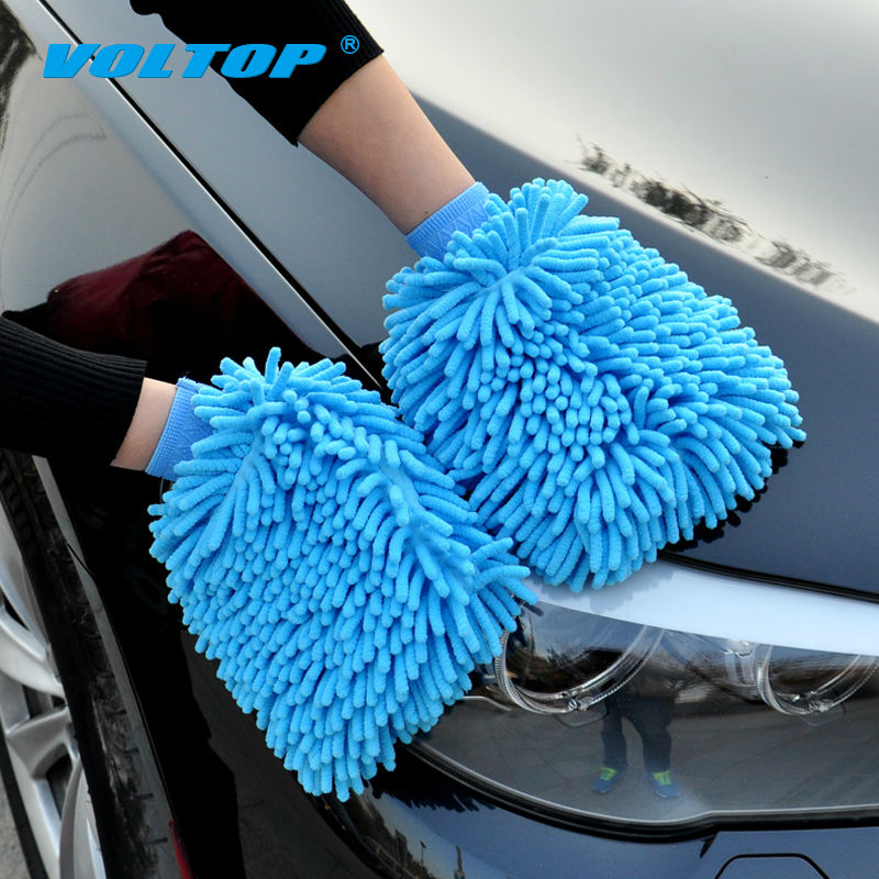 Image 3 - 2pcs Car Cleaning Gloves Auto Washing Towel Microfiber Wash Brush Clean Duster Vehicle Home Office Sponges Coral Cloth Care Tool-in Sponges, Cloths & Brushes from Automobiles & Motorcycles