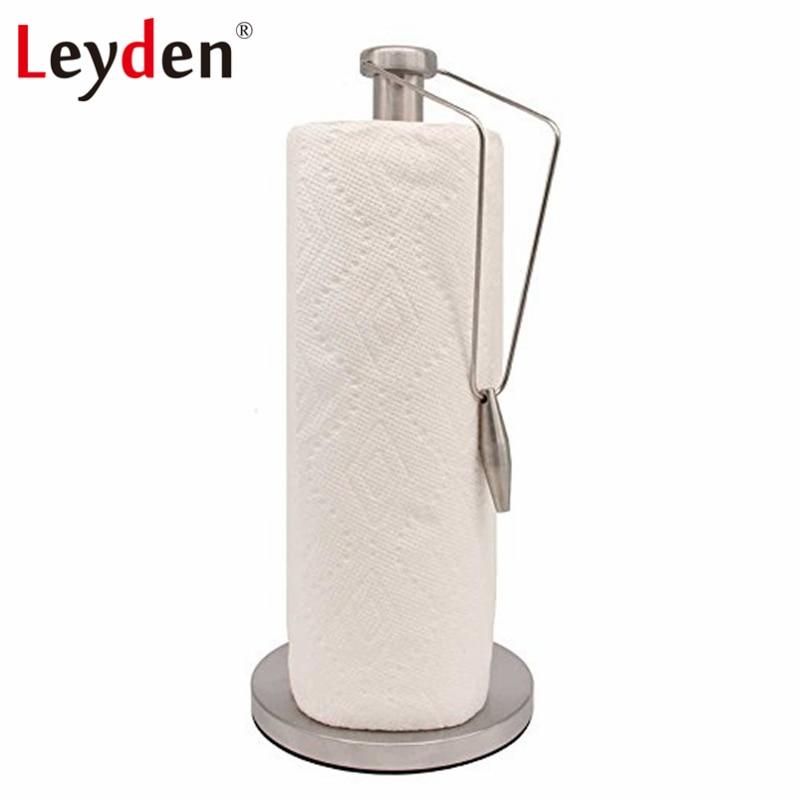 купить Leyden Stainless Steel Toilet Paper Holder Vertical Towel Rack Toilet Paper Holder Kitchen Paper Dispenser Bathroom Accessories по цене 1797.17 рублей