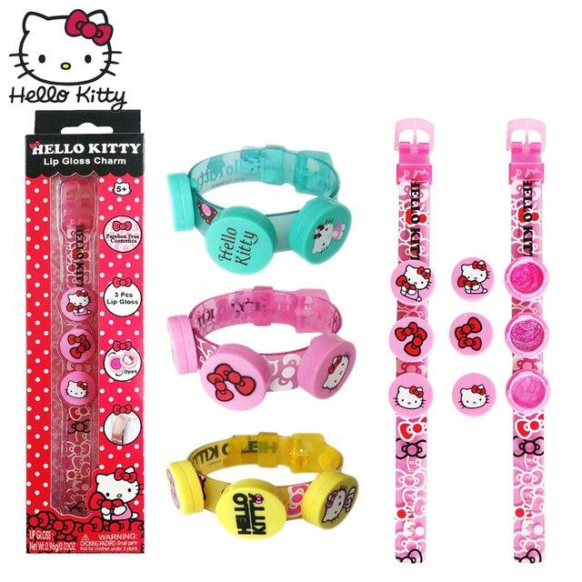 22646f770 4Style New Lip Gloss Hello Kitty Bracelet Makeup Kits Girls Cosmetics  Makeup Set Children Party Princess Pretend Play Toy Safety