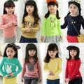 НОВАЯ коллекция весна детская одежда мультфильм девочка топ ребенок ребенок с длинными рукавами Футболки основные рубашка для девочек