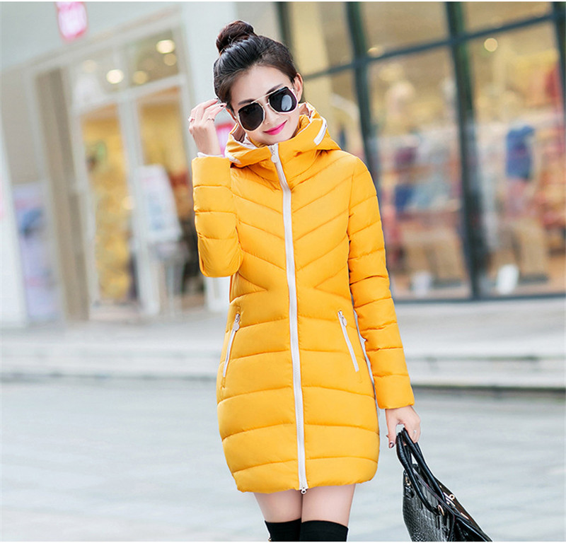 New Vogue Abrigos Mujer Invierno Nice Coat women,winter Padded Jacket Cotton Padded parka,solid Color Hooded parkas,TT1115 qazxsw new winter cotton coat hooded padded women parkas mujer invierno 2017 winter jacket women warm casacos femininos hb221