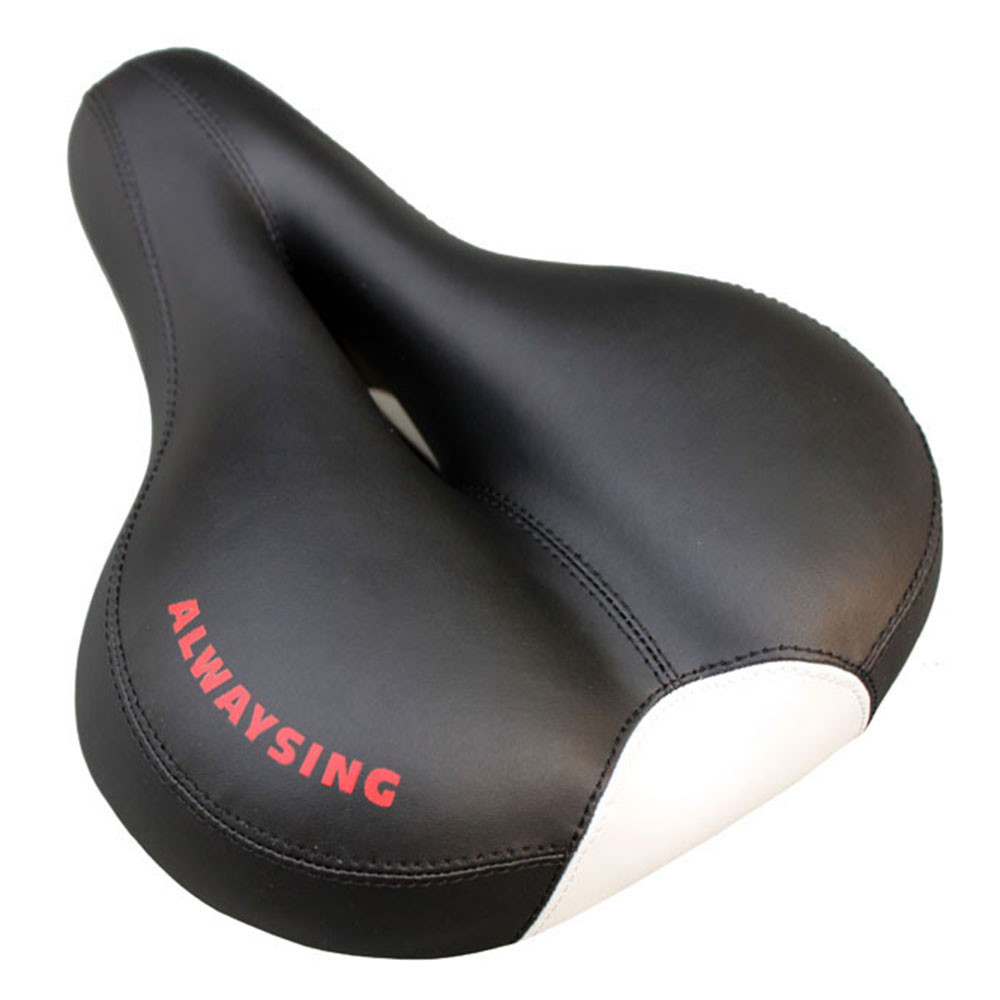 ФОТО Bike Cushion MTB Mountain Silicone Saddle Seat Electric Bicycle Seat Cycling Parts Very Wide And Comfortable