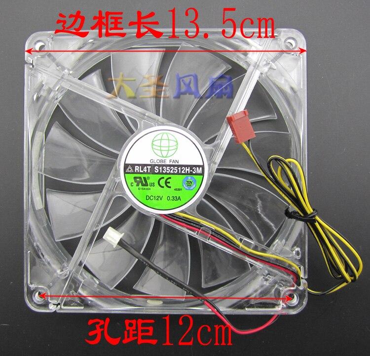 New Original 13.5CM RL4T S1352512H-3M RL4Z S1352512H Computer Chassis Cooling Fan