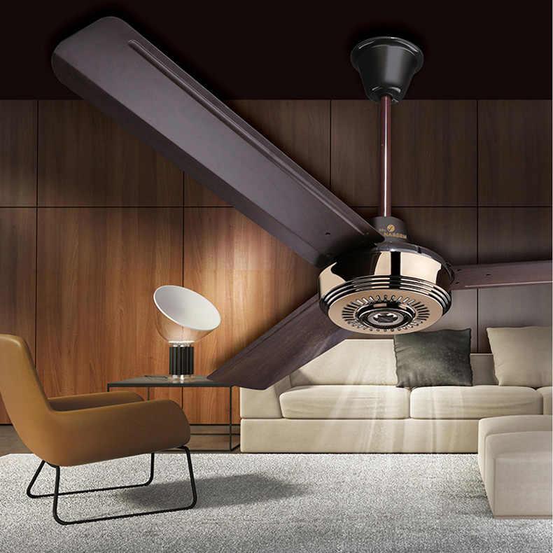 56 дюймов вентилятор 3 металлические лезвия потолок pandant вентилятор промышленности Подвеска Вентилятор для гостиной спальня с управления настенный