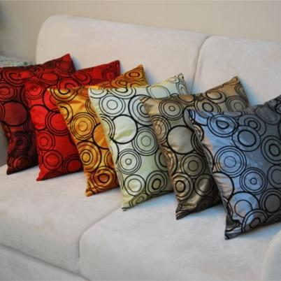 Engros Minimalistisk Sommer Thin Simulation Silk Cloth Fabric Pude Car Pillowcase Chair Talje Square Udsmykning Til Sofa 42cm