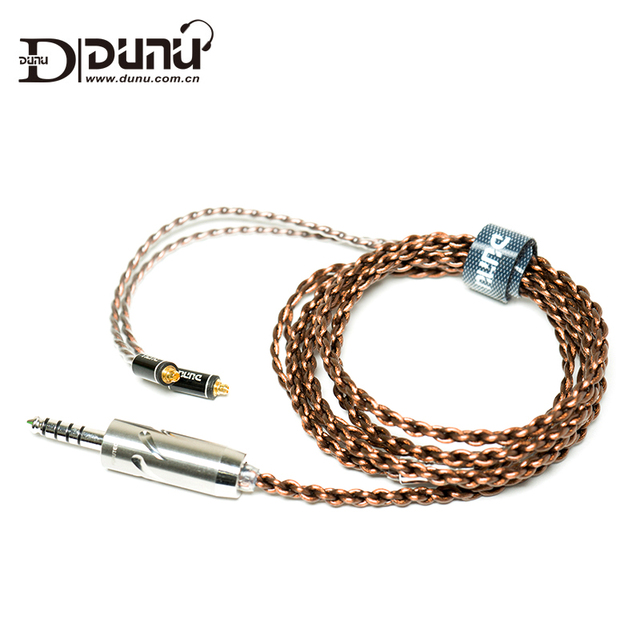 Dunu Standard 2.5mm 3.5mm 4.4mm MMCX Japanese Furutec Balanced Earphone Upgrade Cable for Shure/UE/SONY/JVC/DK3001/Falcon-C 1