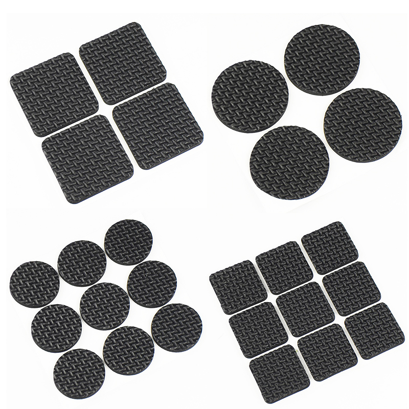 9Pcs/4Pcs Tables and chairs mats and Ottomans black corner of the desk chair cushion anti abrasion floor mat door mat Felt pad