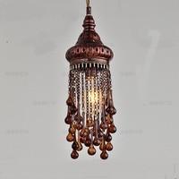Bohemia creative personality pendant lights Mediterranean Southeast Asia Thai color diffuse coffee pendant lamps ZA626 ZL52 YM