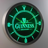 nc0090 Guinness Vintage Logo Beer Bar Neon Light Signs LED Wall Clock
