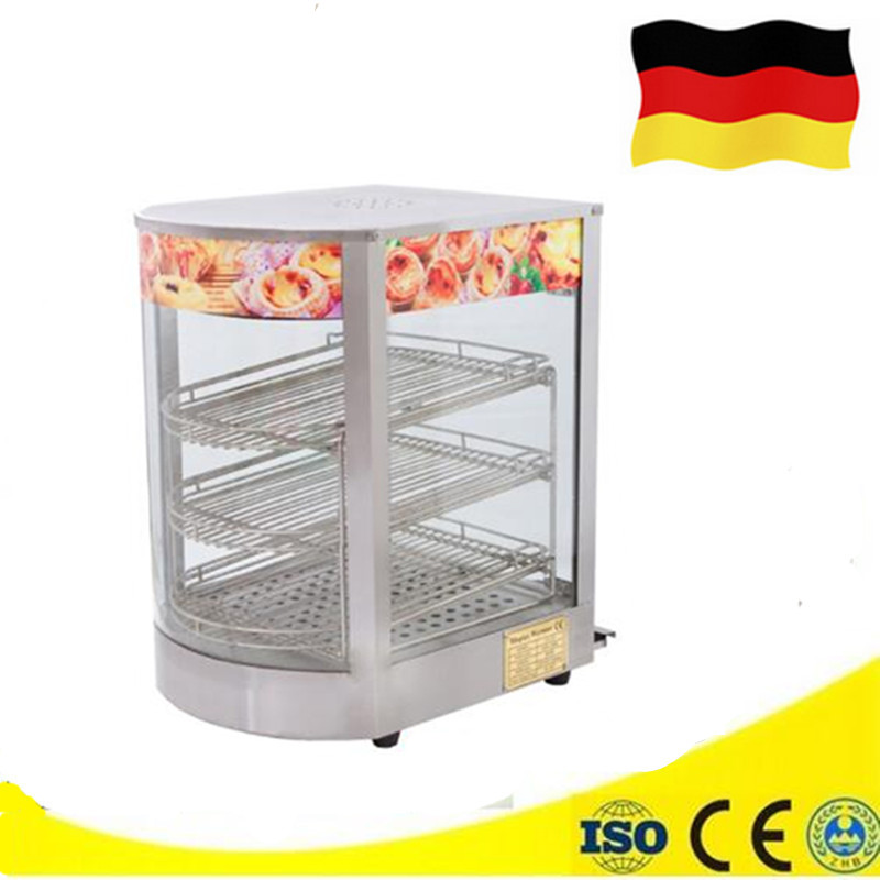 Electric Stainless Steel Warming Display Cabinet for Egg Tart Bread Food Warmer Counter Display Showcase high quality hot dog display showcase food warmer stainless steel bread sandwich countertop tool
