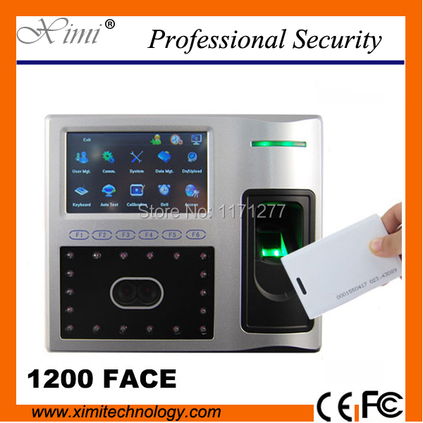 RFID card linux system TCP/IP communication 4.3inch touch screen iface802 face fingerprint attendance machine access controller