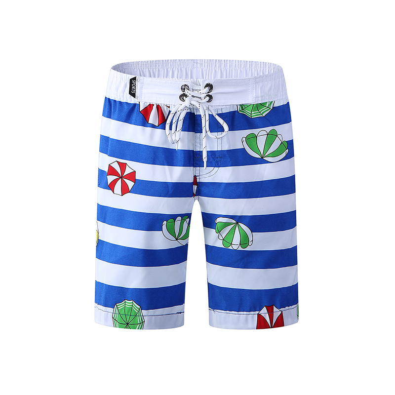 New Kid's   Board     Shorts   High Elastic Surf Swimwear Beach Wear Boys Striped Swim   Shorts   Summer Athletic Running Gym   Shorts   2019