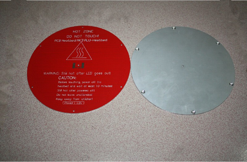 SWMAKER 3D printer parts Reprap Delta rostock MK3 PCB Heated Bed aluminum substrate round 220 mm thickness:3 mm 12V free shippi dia 400mm 900w 120v 3m ntc 100k round tank silicone heater huge 3d printer build plate heated bed electric heating plate element