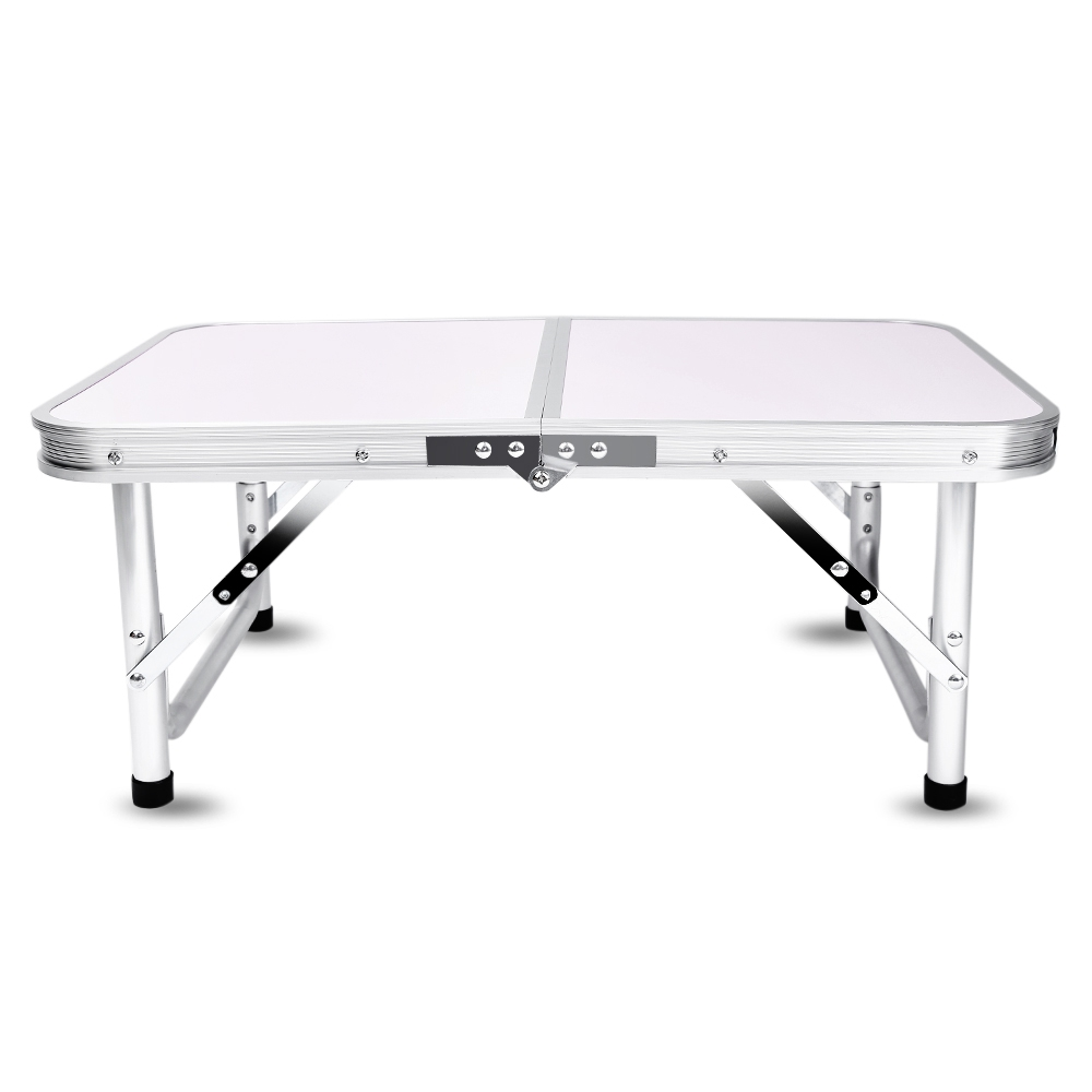 High Quality Aluminum Folding Camping Table for Laptop Adjustable Height Bed Easy Work Desk Outdoor Table