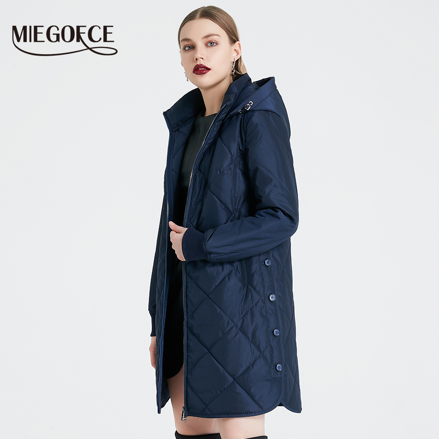 MIEGOFCE 2019 Spring Autumn Women's Jacket Simple Quilted Women's Coat Fashion Windproof Warm   Parka   New Design Hot Sale Product