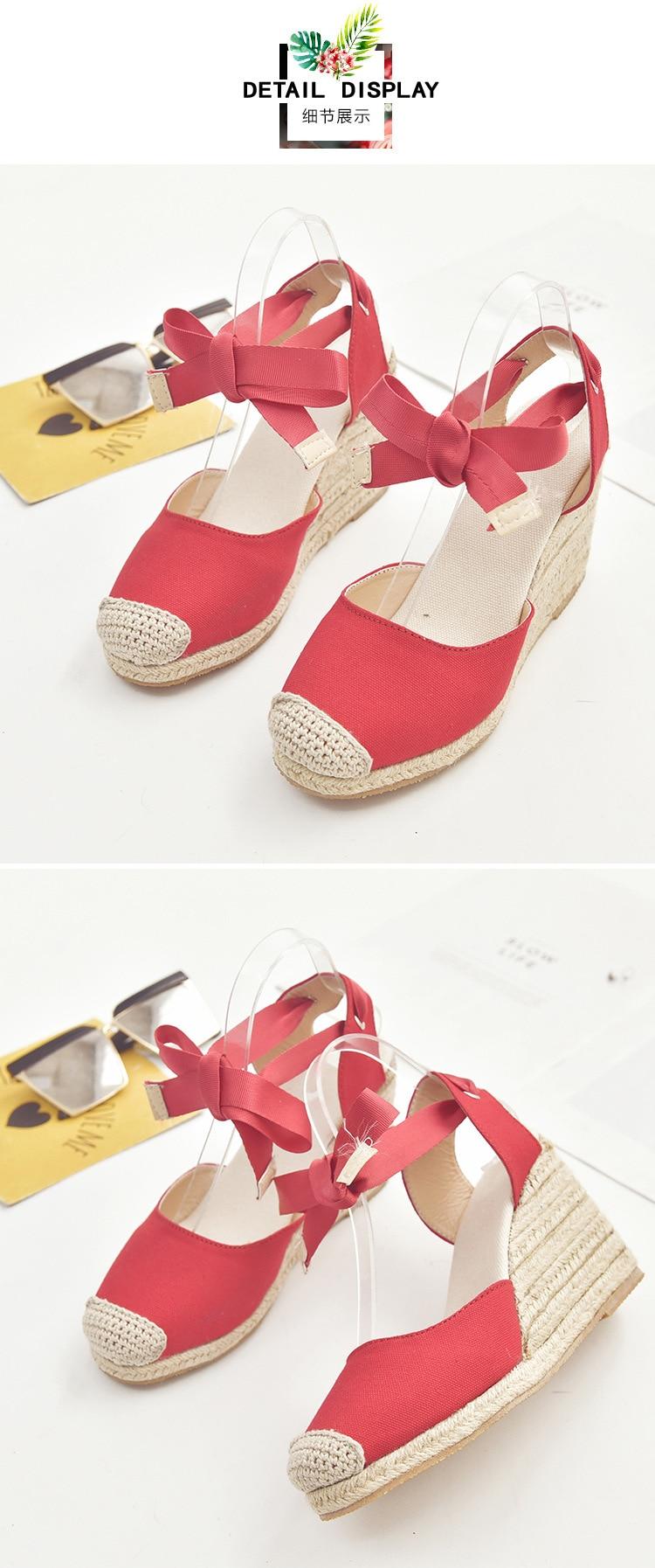 HTB1AM YajnuK1RkSmFPq6AuzFXaW Women's Espadrille Ankle Strap Sandals Comfortable Slippers Ladies Womens Casual Shoes Breathable Flax Hemp Canvas Pumps
