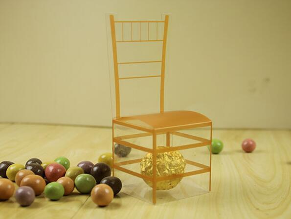 Doeltreffend 100 Stks/partij Gratis Verzending Gold Stoel Pvc Transparante Candy Box Favor Gift Bruiloft Box Baby Shower Dozen Trouwbedankjes