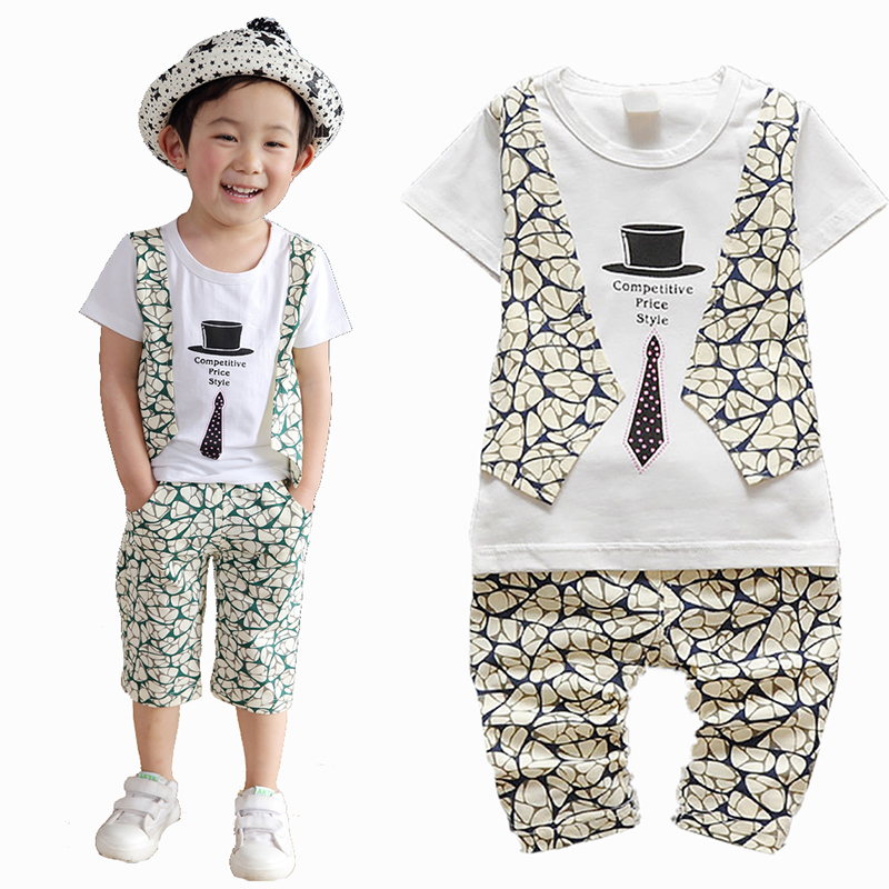 New Fashion Summer Baby Boys Clothes Set Kids Clothing Set T-shirt Short Vest Toddler Boys Clothes Set Gentleman Suit Costume baby boys clothes set 2pcs kids boy clothing set newborn infant gentleman overall romper tank suit toddler baby boys costume